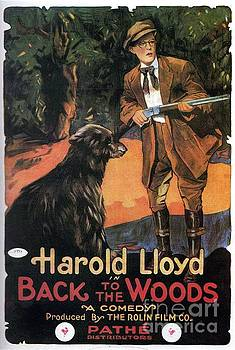 Esoterica Art Agency - Classic Movie Poster - Harold lloyd in Back to the Woods