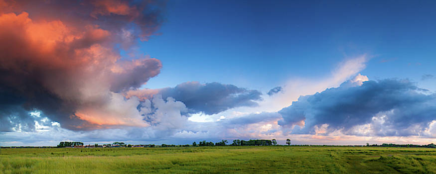 Clearing Storm Clouds at Sunset by Andrew Soundarajan