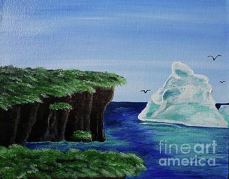 Cliffs With Iceberg by Jacqueline Athmann