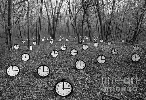 Clocks with Hands with Forest by Roberto Agagliate