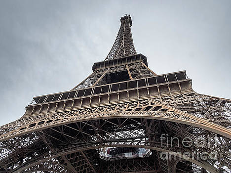 Close up View of the Eiffel Tower From Underneath  by PorqueNo Studios