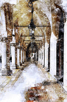 Cloth Hall Arcade In Cracow Poland by Teresa Zieba