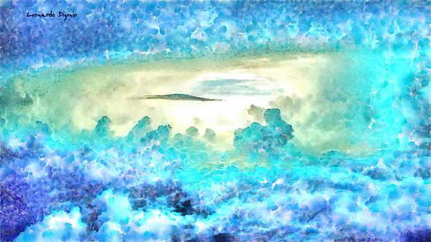 Cloud Abstractions Blue - PA by Leonardo Digenio