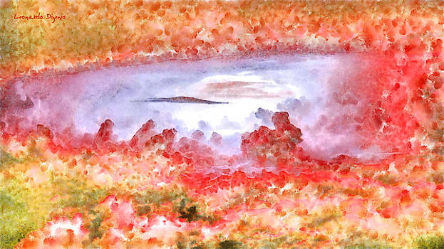 Cloud Abstractions Orange - PA by Leonardo Digenio