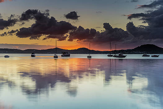 Clouds and Colour Morning Reflections Waterscape by Merrillie Redden