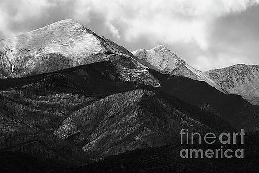Clouds and Fog on the Sangre de Cristo monochrome by Steve Krull