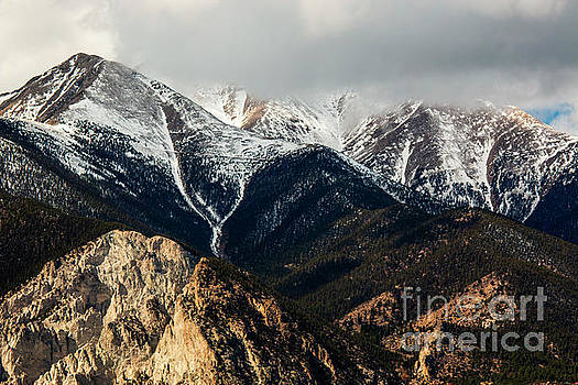 Clouds and Fog on the Sangre de Cristo by Steve Krull