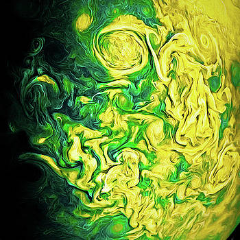 Clouds Of Jupiter Colors Art by Arthur Charpentier