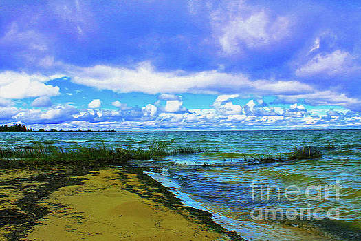 Clouds Over Lake Huron by Nina Silver