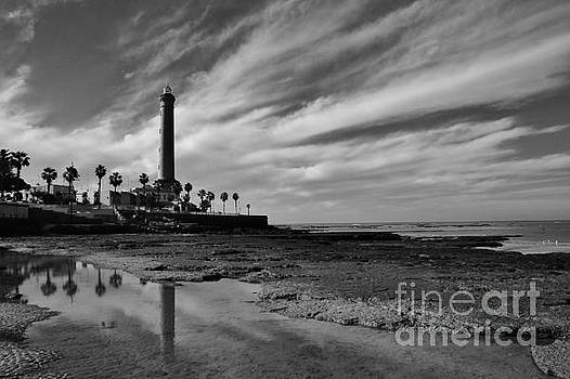 Clouds over the Chipiona Faro by Tony Lee