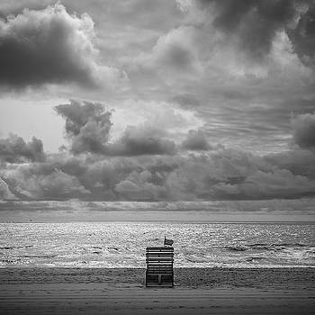Cloudy Morning Rough Waves by Steve Stanger