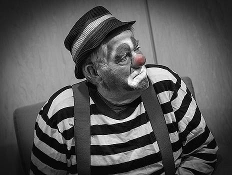 Clown Reflecting  by Phil S Addis