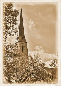 Clustered Spires Series - All Saints Episcopal Church No. 8cs - Frederick Maryland by Michael Mazaika