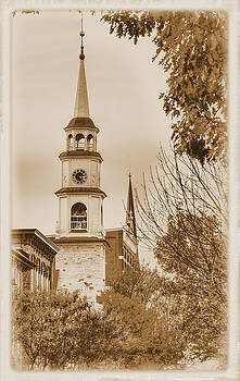Clustered Spires Series - Trinity Chapel United Church of Christ No. 3as - Frederick Maryland by Michael Mazaika