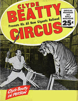 Clyde Beauty in Person Circus - Vintage Advertising Poster by Siva Ganesh