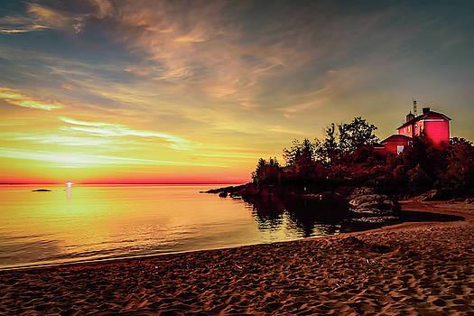 Coast Guard Lighthouse Sunrise by John Wilkinson