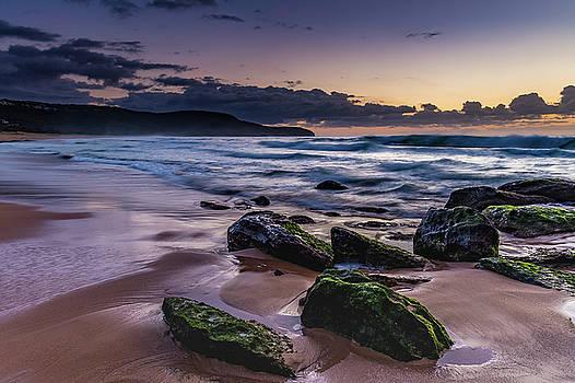 Coastal Dawn Seascape with Rocks by Merrillie Redden