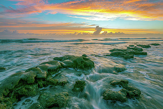 Coastal Ocean Sunrise Florida  by R Scott Duncan