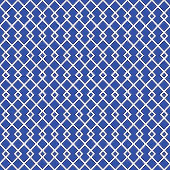 Cobalt Blue Diamond Pattern by Ross
