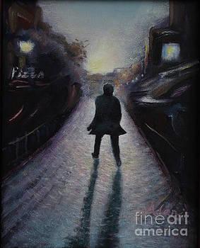 Felipe Adan Lerma - Cobblestone Path Home Paris Painting