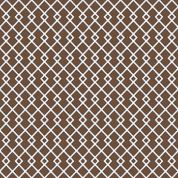 Coffee Brown Diamond Pattern by Ross