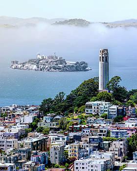 COIT TOWER, ALCATRAZ, and MARIN HEADLANDS - SAN FRANCISCO by Daniel Hagerman