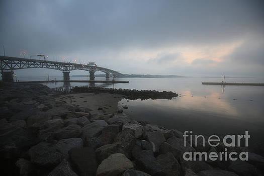 Coleman Bridge Daybreak by Rachel Morrison