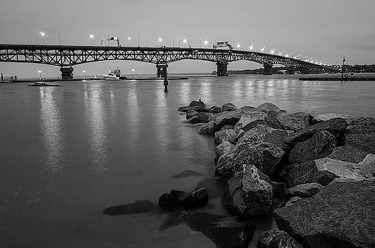 Coleman Bridge in Black and White by Mike O'Shell