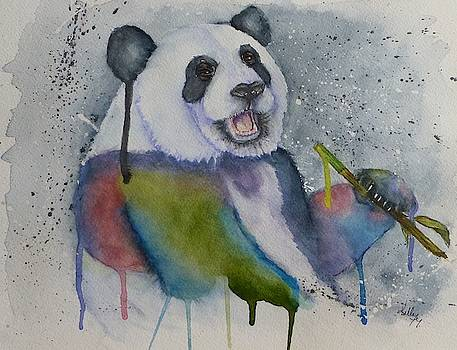Color My World Panda Bear by Kelly Mills