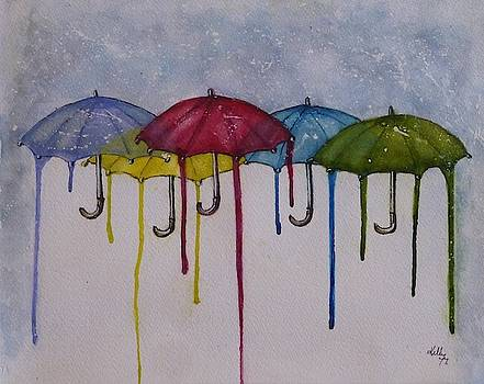 Color My World Umbrellas by Kelly Mills