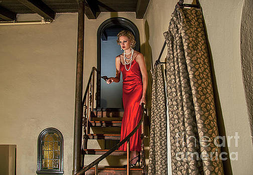 Sad Hill - Bizarre Los Angeles Archive - Color Version of The Haunted Staircase - Mission Inn