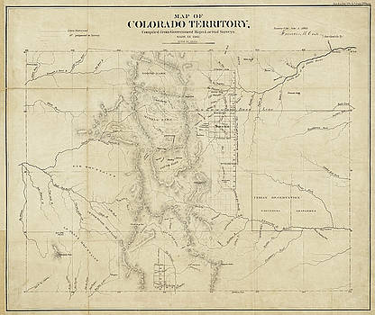 Toby McGuire - Colorado 1861 Territory Map Historical Map