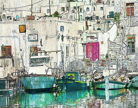 Colored Boats by Jeanne Gadol