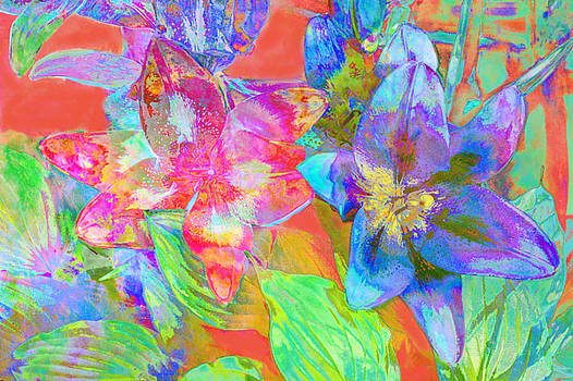 Colorful Abstract Lilies by Suzanne Powers