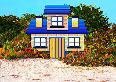 Colorful Beach Cottage by Rosalie Scanlon