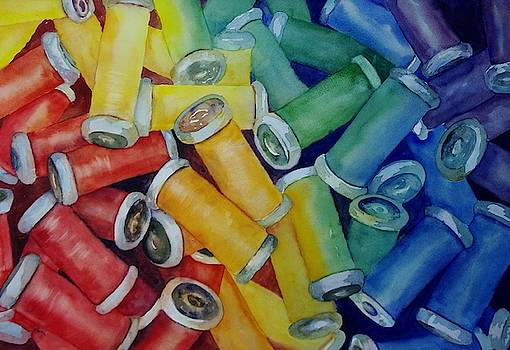 Colorful Bobbins by Beth Fontenot