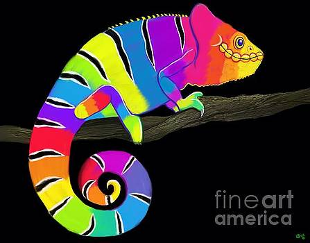 Colorful Chameleon  by Nick Gustafson