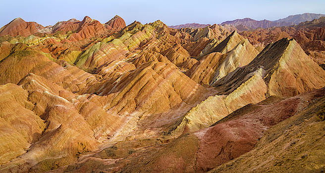 Colorful Clouds Rainbow Mountains Zhangye Gansu China by Adam Rainoff