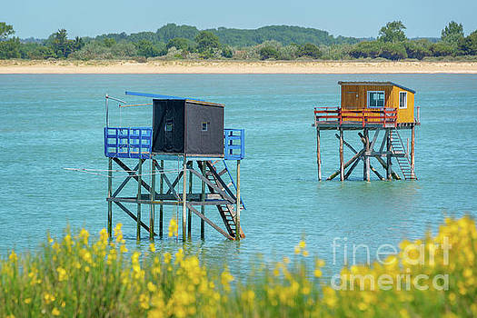 Colorful fishing huts by Delphimages Photo Creations