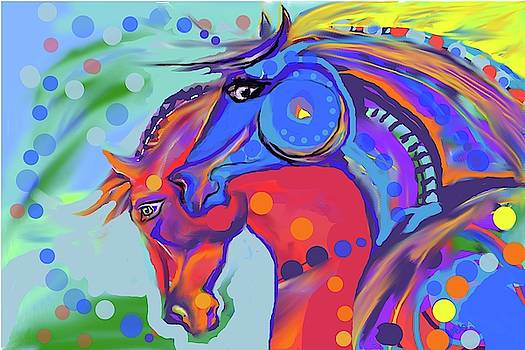 Colorful horses by Mary Armstrong