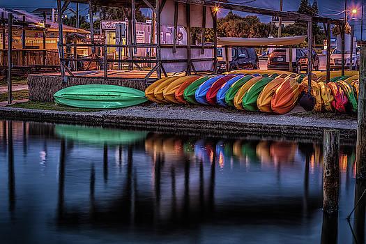 Colorful Kayaks by Jeffrey Klug