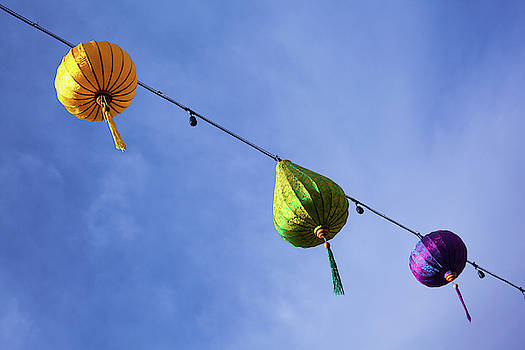 Colorful Lanterns by Jeanette Fellows