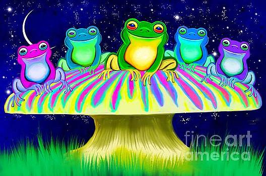Colorful Mushroom Frogs by Nick Gustafson