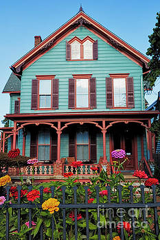 Colorful Old House in Flemington by George Oze