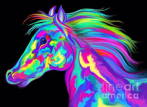 Colorful Rainbow Horse by Nick Gustafson