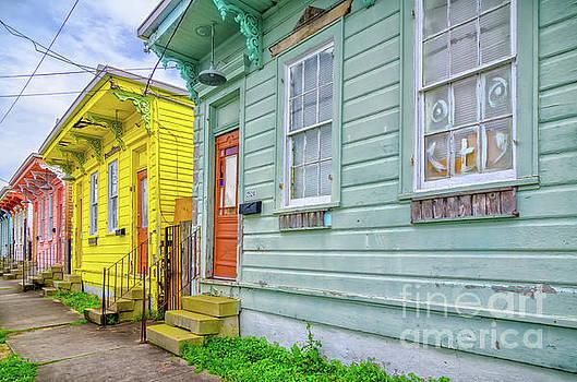 Kathleen K Parker - Colorful Row Houses - NOLA