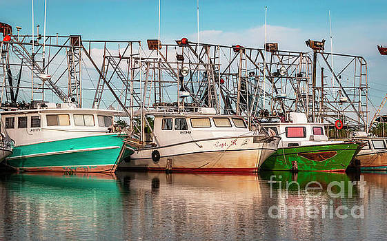 Colorful Shrimp Boats by Edie Ann Mendenhall