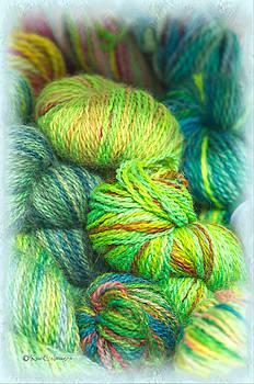 Colorful Skeins of Yarn by Kae Cheatham
