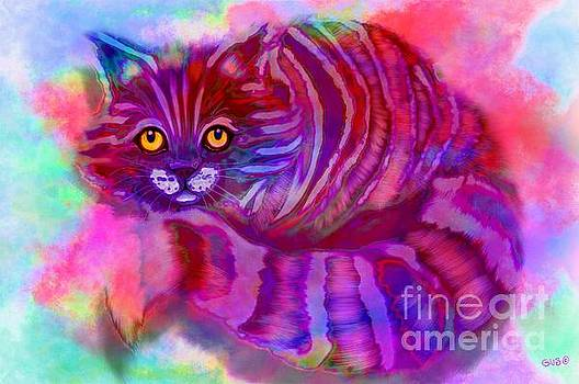 Colorful Striped Kitty by Nick Gustafson