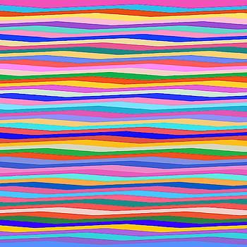 Colorful Stripes wavy by Gabriella Weninger - David